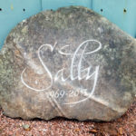Hand-carved memorial stone