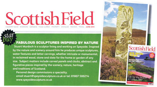 Scottish Field magazine feature