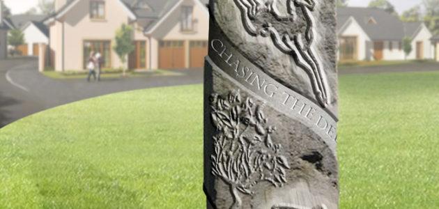 Kemnay housing estate sculpture