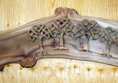 Family of Celtic trees - elm carving