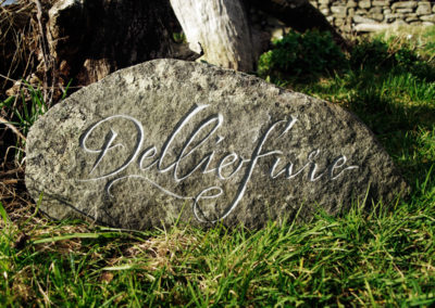Delliefure Stone Sign