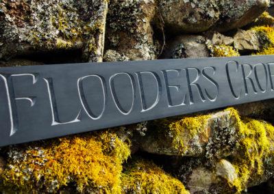 Flooders Croft slate sign