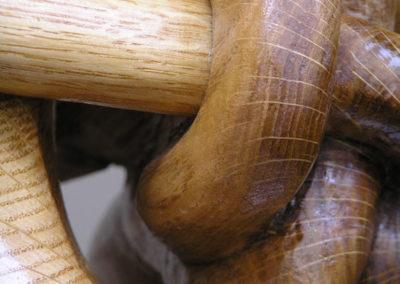 Celtic knotwork dog oak carving