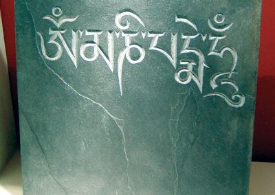 Buddhist slate – Om Mani Padme Hum