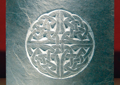 Celtic knotwork slate plaque