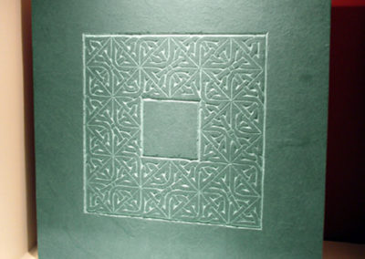 Large Celtic knotwork carved slate plaque