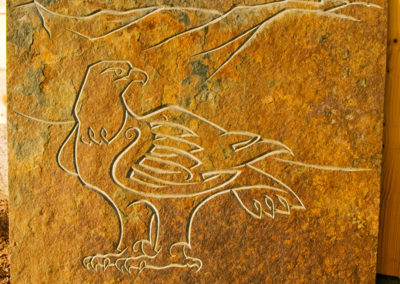 Golden Eagle on Braeriach carved slate panel