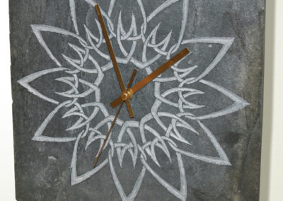 Celtic knotwork sunflower design slate clock