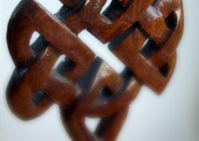 Celtic tree in mahogany