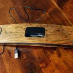 Whisky barrel stave iphone dock