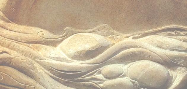 Flowing water memorial stone