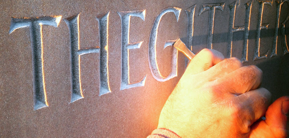 Doric phrase sculpture Daein Dirdums Thegither