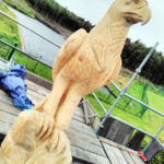 Glenfarclas bird sculptures Golden Eagle