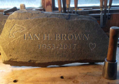 Natural burial marker stone