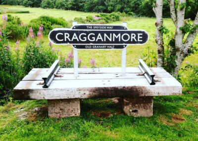 Speyside Way railway bench