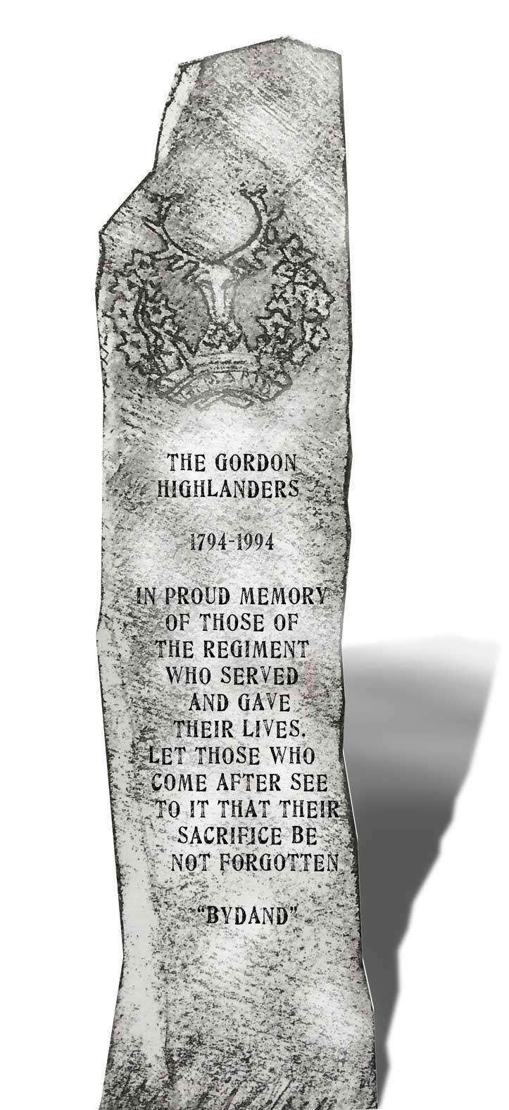 Gordon Highlanders memorial