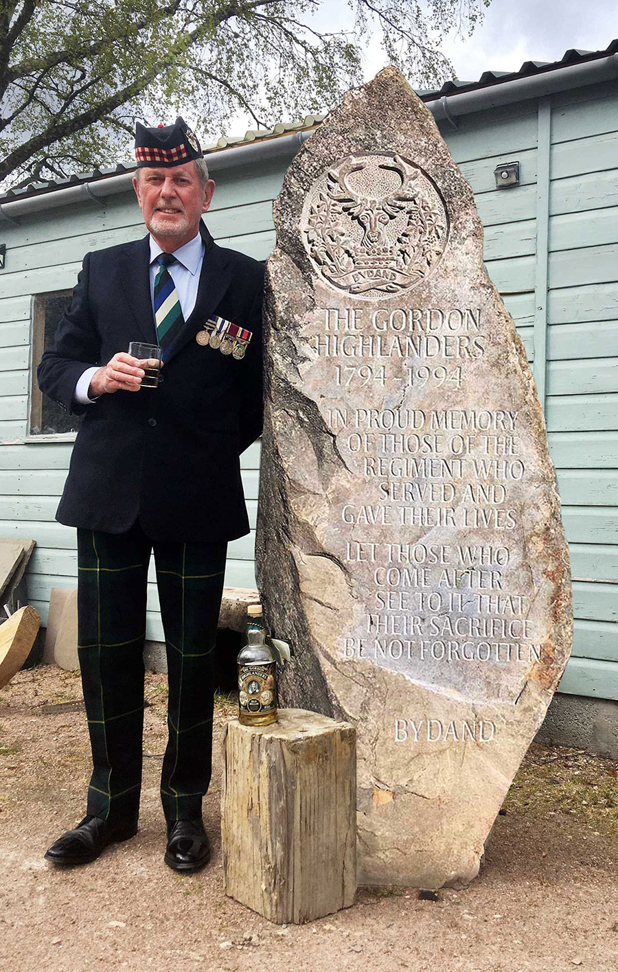 Gordon Highlanders Memorial VE Day 75