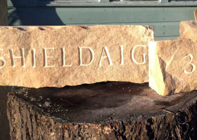 Shieldaig house sign