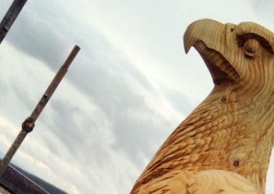 Glenfarclas bird sculptures