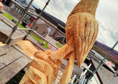 Glenfarclas bird sculptures Golden Eagle