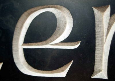 hand-carved lettering Celtic slate house sign Glenochty