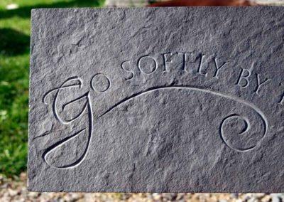 Hand-carved lettering slate Rudyard Kipling poem