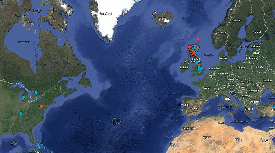 Around the world. Sculpture map.